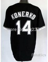 baseball countries - 2015 New to all country Paul Konerko black jersey Embroidered Logo all name number stitched