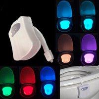 bathroom bowls - Led Motion Sensor Toilet Night Light Colors Change Toilet Bowl Light Toilet Bowl Lid Bathroom human body auto sensing night light