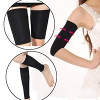 arm shapewear - set Seamless slimming arms shaper massage thigh wrap legs trimmer belt fitness worktime body shapewear girdles