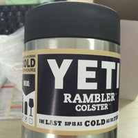 Wholesale new12oz YETI Rambler Colster Vacuum Insulated Tumbler Yeti Mugs Insulated Stainless Steel Car Beer Cup color silver good