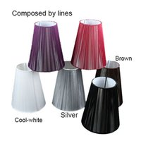 Wholesale cm Modern black white red brown Pull line Fabric wall light lamp shades E14