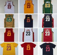 best quality costumes - 2016 Hot Sale LeBron Champions Patch Jerseys Stitched for Best quality jamES College Retro Theme Costume Size S XXL