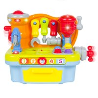 alphabet learning tools - Fun Sound Effects Lights Musical Learning Pretend Play Tool Workbench Toy