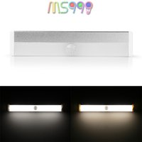 Wholesale Rechargeable Magnetic Infrared IR Motion Sensor LED Wall Lights Night Light Auto On Off Battery Operated for Pathway Wall Fridge