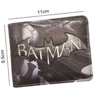 animate cards - Wallets Holders Wallets DC Comics The Batman Wallet Animated Cartoon Purse for Young People Students Gift Card Holder Wallets With Tag