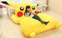 big giant design - PIKACHU design big sofa m PIKACHU dedpika bed PIKACHU SLEEPING BAG totoro bed Cute Giant Rilakkuma cushion bed looks