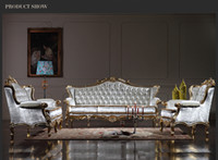 antique sofa styles - Royalty Classic sofa set Baroque Style classic living room set European high end gold leaf gilding furniture
