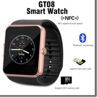 Wholesale Bluetooth Smartwatch GT08 Smartwatch Smartphone Monitoring For Samsung Note LG ISO Android Cellphone With Retail Package