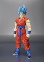 Wholesale 15cm Anime Dragon Ball z Super Saiyan Son Gokou Son Goku PVC Action Figure Movable Joints Collection model Toy Hot Collection Toys