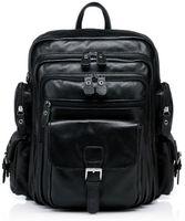 Wholesale bolsas high quality women men travel bag shoulder fashion laptop bag casual computer bags top quality genuine leather backpack