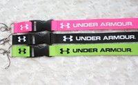Wholesale 10pcs Under Armor UA Fashion Clothing Lanyard Detachable Keychain iPod Camera Strap Badge Cell