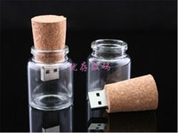 Wholesale At the beginning of G have enough high speed glass bottle plug U disk G creative new boys bottle cork USB