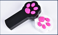 Wholesale Cat Toys Interactive LED Light Pointer Pet Scratching Training Tool Black and white Steady on and Blinking
