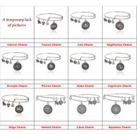 ancient constellations - 12 constellation Alex and Ani bracelets Ancient gold silver Horoscope Zodiac signs charm bracelets bangle cuff for women jewelry
