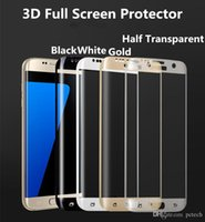 Wholesale Samsung S6 Edge Full Screen Protector tempered Glass Ultra thin Super durable Screen Guard