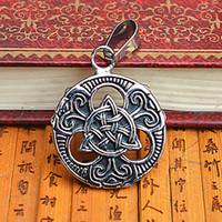 antique irish necklace - 6SDZ9 Fashion Jewellery The Irish Celtic Knot Pendant Women Antique Titanium Stainless Steel hollow out Knot Shape Pendant