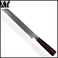 beautiful kitchens - XYJ damascus knives inch bread knife kitchen knives VG10 Japanese damascus steel cooking tools beautiful kitchenware gift