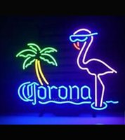 Wholesale Hot neon bulbs commercial custom CORONA EXTRA FLAMINGO NEON SIGN BEER BAR PUB Night Light Advertisement Sign LightS VD17X14