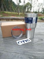 Wholesale 12PCS RTIC oz Tumbler RTIC Stainless Steel Can Cooler Bilayer Insulation Mugs for Coffee Beer DHL OR SF EXPRESS