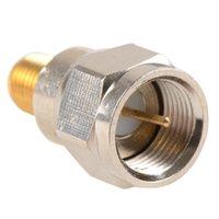 auto radio connectors - Adapter F TV Plug Male Nickel Plating To SMA Female Jack Gold Plating RF Connector Antenna Auto Radio VC718 P30