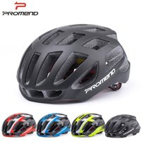 Wholesale promend cycling helmet for road bicycle men and women light weight colorful integrated helmet equipment safe cycling hat