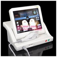 Wholesale Hifu high intensity focused ultrasound portable hifu wrinkle removal and face lift hifu machine can add mm cartridge but not include