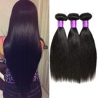 authentic virgin brazilian hair - 6A Brazilian Virgin Hair Straight Bundles Deals Soft Authentic Straight Human Hair Weaves A Brazilian Hair Bundles Dyeable On Sale