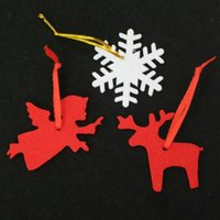 Wholesale 500pcs New Christmas decorations felt Christmas tree pendant ornaments drop shipping Can be customized