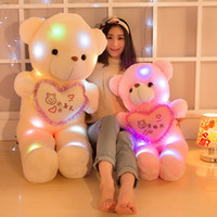 Wholesale Plush doll plush toys Tactic bear love light holds the heart bear creative teachers Day gift