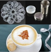 Wholesale Usuful Kitchen Powder Coffee Cappuccino Stencils Chocolate Shaker Duster Sifter Measure Spoon Cool Cooking Tools