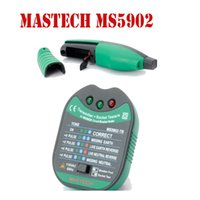 Wholesale MASTECH MS5902 Circuit Breaker Finder Socket Tester Finder for CATII Instruction Fully Automatic Electric Test Tecrep Meter Detector