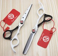 beautiful tooth - quot Top Quality Human Hair Scissors Professional Beautiful Styling Tool Black White Shears with Smooth Handle Purple Dragon JP440C Teeth