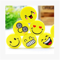 Wholesale New Hot pc New Lovely Funny Smile Face Eraser Novelty Erasers For Kids Kawaii Rubber Eraser Small Size Kids Gifts