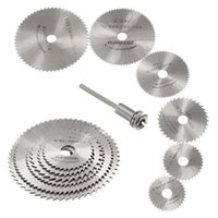 Wholesale NEW7Pcs HSS Rotary Tools Circular Saw Blades Cutting Discs Mandrel Cutoff Cutter Power tools multitool