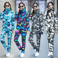 Wholesale 2017 New Korean winter camouflage suits down cotton thin slim fashion cotton trousers two piece