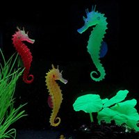 Wholesale 9 Brand New Glowing Effect Aquarium Fish Tank Decorations Artificial Simulation Hippocampus FG14337