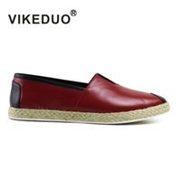 berluti shoes - VIKEDUO Men shoes men casual shoes XX fashion Genuine leather shoes patina shoes Hand painted shoes Second Only To Berluti