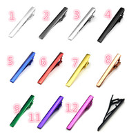 Wholesale Hot models color tie clip red blue green purple black silver quality fashion charm