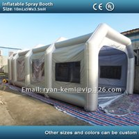 Wholesale m inflatable spray booth inflatable paint booth tent inflatable car spray booth for sale