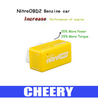 Wholesale Nitro OBD2 scanner Plug and Drive NitroOBD2 Performance Chip Tuning Box for Benzine Cars with English User Manual DHL