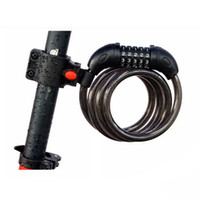 Wholesale Bicycle Cycling Bike Portable Digit Anti Theft Security Chain Code Lock Resettable Combination Cable Lock