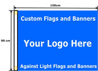 Wholesale 90 x cm Full Color Single Sided Custom Flag Advertising Customized Personalized Logos Signs Banner With Grommets