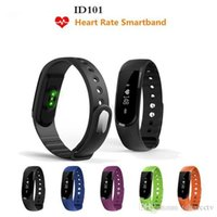 Wholesale Authentic ID101 Bluetooth Sport Smart Band Heart Rate Monitor Smart Wristband Fitness Tracker Bracelet For IOS Android Phone