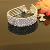 Wholesale row rhinestone necklace for dogs pet dog supplies collar for pets dog necklace pet jewelry