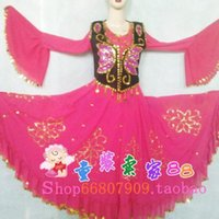Wholesale Xinjiang Dance Costume Chiffon Skirt Costume Dance Xinjiang Dance Costume ethnic Uighur Siamese