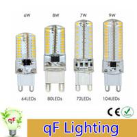 Wholesale Dimmable E14 G9 G4 led light bulbs smd V V w w w w leds leds leds leds silicone lights Replace Halogen Lamp