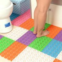 Wholesale 30 cm Candy Colors Plastic Bath Mats Easy Bathroom Massage Carpet Shower Room Rubber Non slip Mat Tapis Salle HY1087