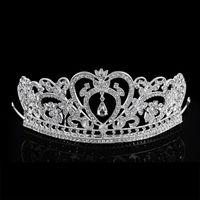 Wholesale 2016 New Arrival Latest Women Girls Crystal crown Rhinestone tiara Headbands Barrette Clip Bows