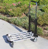 aluminum hand truck - extendible Aluminum Lb Platform Hand Truck dolly Luggage Cart new