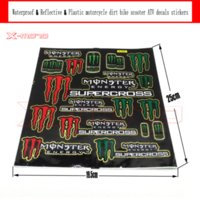 atv plastic body - Reflective amp Waterproof amp Plastic Decals Stickers for pit bike dirt bike motorcycle ATV supermoto Cross motorcycle scooter